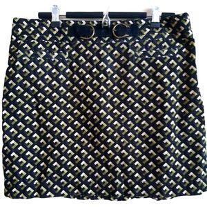 LOFT | light corduroy olive and brown mini skirt
